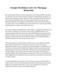 mortgage modification hardship letter sample hardship letter for mortgage reduction