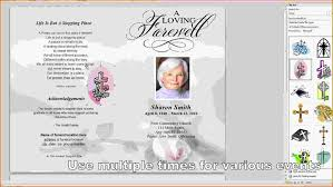 microsoft office funeral program template free funeral template for word rome fontanacountryinn com