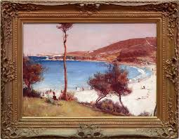 alternate image of holiday sketch at coogee by tom roberts