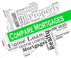 Compare Mortgages Shows Home Loan And Borrowing Stock