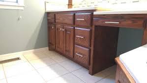 refinishing golden oak cabinets