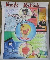 Chart On Female Foeticide Female Foeticide In 2019 Girl Posters Poster Drawing