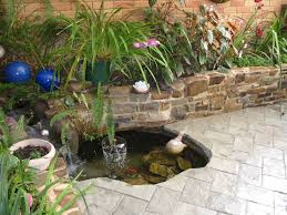 Small Picture pond ideas for small gardens Backyard Landscaping with Small