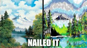 bob ross vs ms paint by link1ovaganon