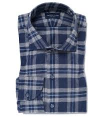 Whistler Shirt Size Chart Philippines Whistler Blue And Grey Large Plaid Flannel Fitted Shirt By