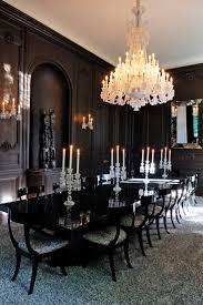 dark dining room classic dining room dark dining room with a chandelier interior design