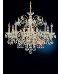schonbek early american inch wide light chandelier