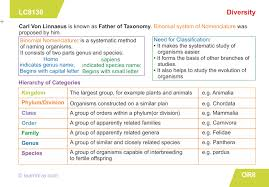 Biodiversity Classification Chart Learnhive Icse Grade 9 Biology Diversity In Living