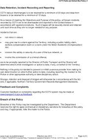 Policy On Public And School Bus Closed Circuit Television