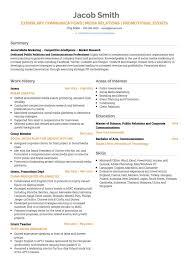 Public Relations Resume Public Relations Cv Examples Templates Visualcv