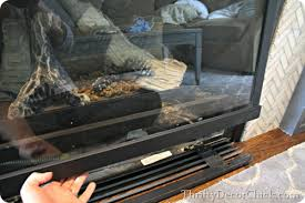 cleaning gas fireplace glass from thrifty decor in 8