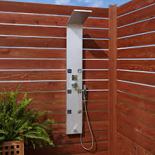 Harlingen Six Jet Outdoor Shower Panel With Hand Shower Outdoor