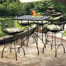 Patio Ideas Image Perfect Wrought Iron Patio Table White
