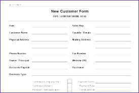 Printable Customer Information Form Template Free New Basic Word