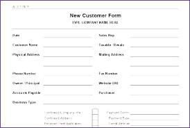 Printable Customer Information Form Printable Customer Information Form Template Free New Basic Word