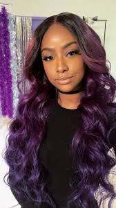 Sew In Hair Style 174 Best Justine Skye Images Purple Hair Purple 8344 by wearticles.com