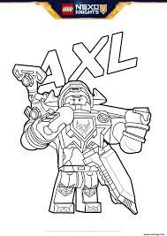 Coloriage Lego Nexo Knights Bouclier Axl Jecolorie Com