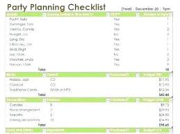 Sample Checklist In Word Party Planning Templates Free Event Planning Templates With Regard