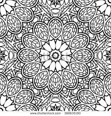 Small Picture Adult Coloring Page Semless Zendoodle Vector Stock Vector