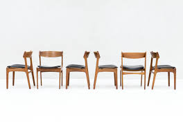 dining chairs in teak by erik buch for o d mobler denmark 1957 set of 6