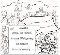Kleurplaat Koningsdag 4 11 Jaar Bijbels Opvoedennl