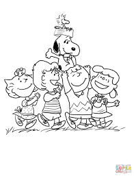Small Picture Coloring Pages Charlie Brown And Snoopy Christmas Coloring Page