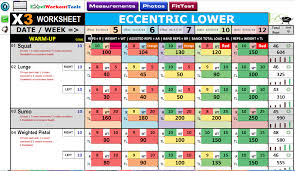 P90x3 Excel Workout Tools
