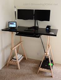 Full Size of Home Desk:maxresdefault Diy Sit Stand Desk Legs Desktop  Plansdiy Top Riser ...