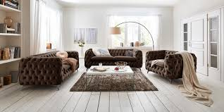 3 Sitzer Chesterfield Sofa Emma Samt
