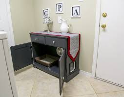 concealed litter box furniture. Converting Furniture For Litter Box Todays Homeowner In Bench Renovation Concealed C
