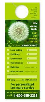 Landscape Door Hangers Wellspring Landscape Services Landscaping