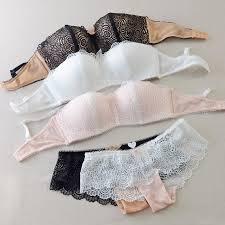 <b>Hot Sexy Push Up</b> Bra Set Brand Deep V Brassiere Thick Cotton ...