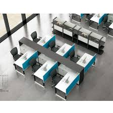 modular office furniture china 4 seats desk front screen metal frame modular office furniture
