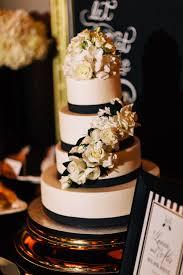 Wedding Ideas White Cake Floral And Gold Amazing Honeystan