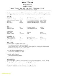 Dancer Curriculum Vitae Sample Luxury Unique Production Resume