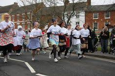 Image result for pancake race warwick market place