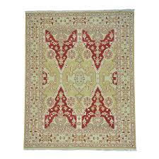 8 x10 soumak with angora oushak design flat weave hand woven rug