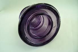 vintage purple glass insulator whitall tatum co no 1