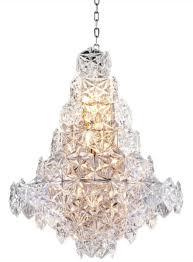 Casa Padrino Luxus Kronleuchter Silber Klares Glas ø 60 X