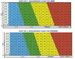 Body Fat Percentage Chart Navy