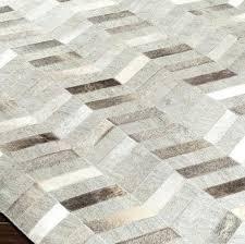 modern cowhide area rug 5009 dark brown cream light gray light gray area rug phase handmade