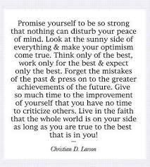 Promise Yourself To Be So Strong Quote