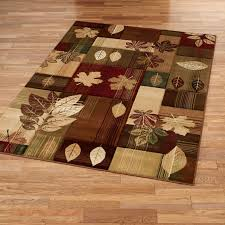 charming leaf area rug perfect design autumn bliss rugs trendy idea fresh pattern round colorful