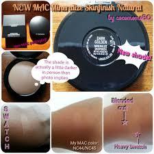 Mac Mineralize Skinfinish Color Chart New Mac Mineralize Skinfinish Natural Msfn In Dark