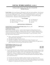 Sample Resume For Social Worker Intern