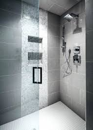 gray shower tile ideas best on large contemporary grey o85 shower