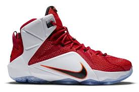 lebron high top shoes. name:nike lebron xii color:university red/black-white-hyper crimson style:684593-601. release date:10/30/2014. price:$200. exclusive:gr [detailed photos] lebron high top shoes