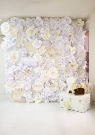 White Paper Flower Backdrop White Paper Flower Wall Diy Paper Flower Backdrop Photography