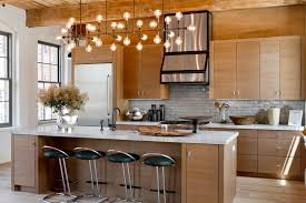Beautiful Rustic Lighting Fixtures Kitchen Contemporary With Black Bar Stools  Chandelier. Image By: Rikki Snyder Design Inspirations