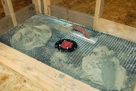 how to build a shower pan shower pan mortar placing build shower pan on concrete floor